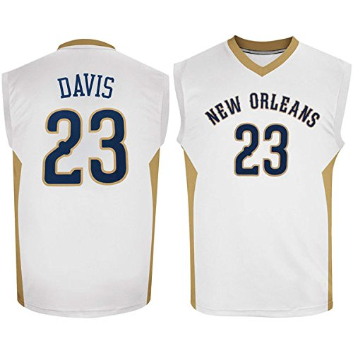 Mens Anthony Davis #23 New Orleans Pelicans White Jersey M