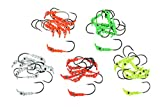 Last Cast Tackle 3.5g, 5.0g, 7.0g 5 Color 45pc Jig Head Assortment