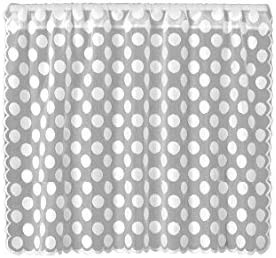 Heritage Lace Polka Dot 58 Wide X 30 Drop White Tier