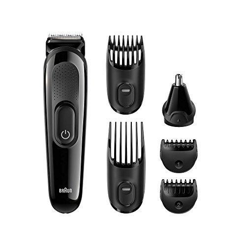 Braun MGK3020 Men's Beard Trimmer for Hair / Head Trimming, Grooming Kit with 4 Combs, 13 Length Settings for Ultimate Precision