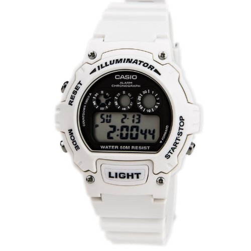 Casio W 214HC 7AVEF White Chronograph Watch