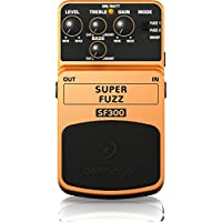 Behringer Super Fuzz SF300 3-Mode Fuzz Distortion Instrument Pedal de efectos