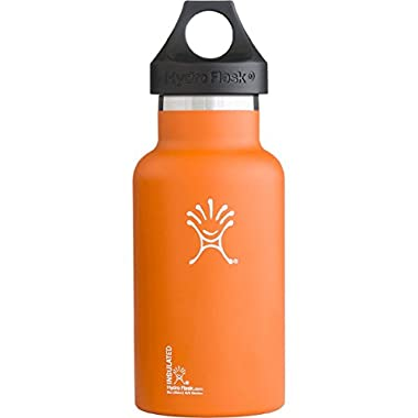 Hydro Flask 24 oz Vacuum Insulated Stainless Steel Water Bottle, Standard Mouth w/Loop Cap, Orange Zest