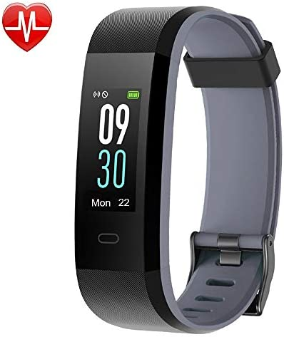 YAMAY Fitness Tracker, Heart Rate Monitor Watch Fitness Watch Activity Tracker IP68 Waterproof Pedometer with Step Counter Sleep Monitor 14 Sports Tracking for Women Men Kid Color Screen