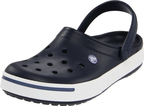 Blue Croc Leather - Crocs Men's 11989M Clog,Navy/Bijou Blue,12 M US