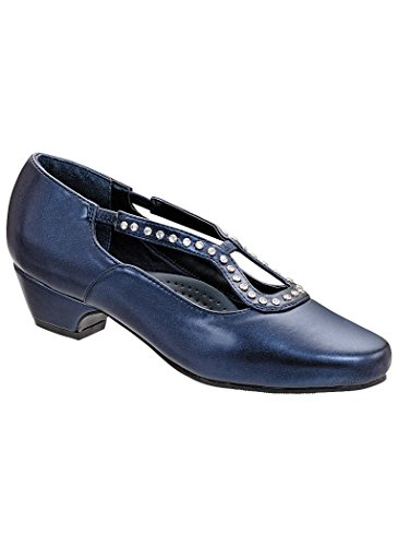 - AngelSteps Women's Adult Sylvia Pump Leather Pumps Shoes Dress Shoes 11 Wide US Women/Navy
