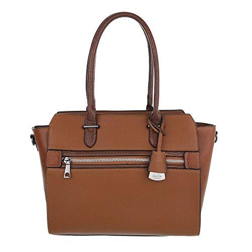 Schuhcity24 Taschen Handtasche Braun