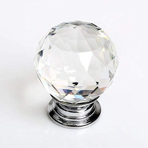 ZJchao 8pcs 40/mm T/ürknauf-Griffe f/ür Glas Glas klar Schubladen T/ürgriff Diamant