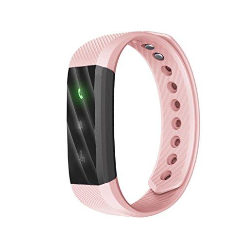 Rumas Waterproof Multifunctional Smart Bracelet with Sleep Monitor, 0.8 Inch OLED BLE 4.0 50mAh, Blueteeth Pedometer, Fitness Tracker (Pink) by Rumas