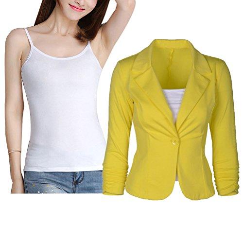 Donalworld+Womens+Slim+Blazer+Jacket+Suit+Work+Casual+Basic+Button+Coat+YL+Tag+XL