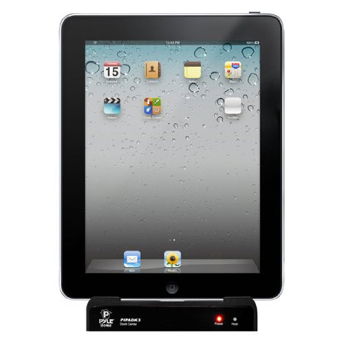 Pyle PIPADK3 Universal iPod, iPhone and iPad Multimedia Entertainment Docking Station with Remote Control (Black)