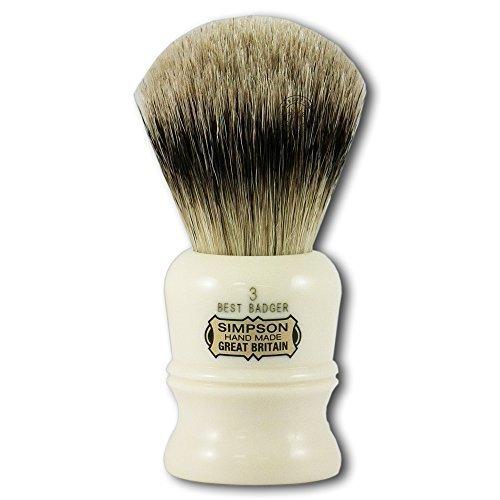 Simpson Shaving Brushes Duke D3 B Best Badger Handmade British Shaving Brush by Progress Shaving Brush (vulfix) Ltd by Simpson Shaving Brushes
