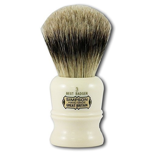 Simpson Shaving Brushes Duke D3 B Best Badger Handmade British Shaving Brush by Progress Shaving Brush (vulfix) Ltd (Simpson Chubby 2 Best Badger)