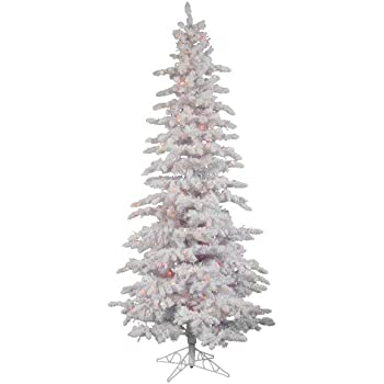 vickerman pre lit slim tree with 300 multicolored italian led lights 65 feet