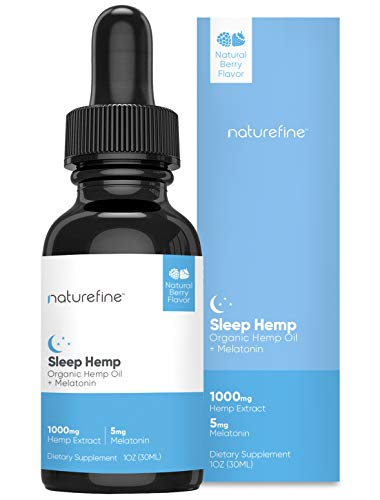 Healthy Sleep Patterns - Hemp Oil + Melatonin - Healthy Sleep Patterns - Infused with Natural Berry Flavor - Natural Pain Relief & Anxiety - Proudly Grown & Made in The U