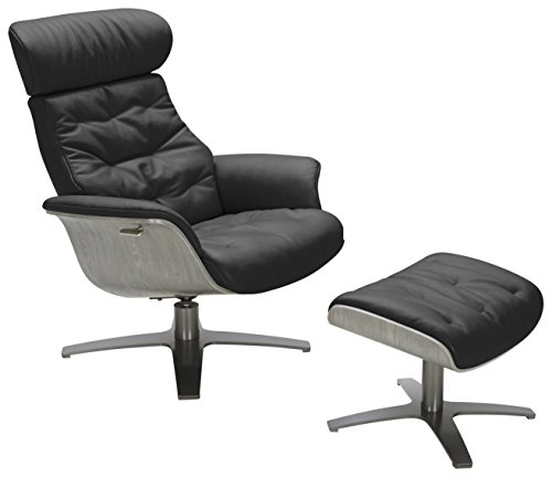 04813-C Karma Black Living Room Leather Chair ()