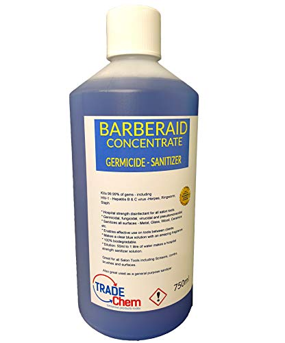 Barberaid Disinfectant Solution for Salon, Medical, Athletics Barberaid (750ml)