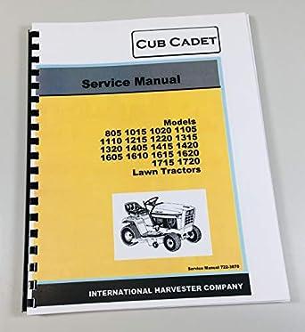 Amazon.com: Cub Cadet 805 1015 1020 1105 1110 - Manual de ...