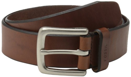 FOSSIL Joe Belt Color: Brown, 44 - Fossil Mens Brown Leather