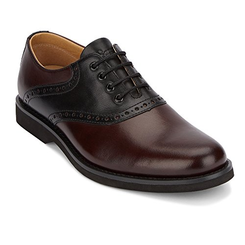 G.H. Bass & Co. Men's Parker Oxford, Burgundy/Black, 8 M US