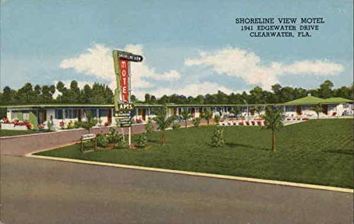Shoreline View Motel Clearwater, Florida Original Vintage Postcard ()