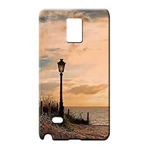 samsung note 4 Impact High Quality style phone carrying cases lamp post beach