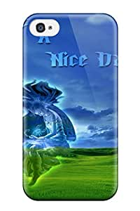 Unique Design Iphone 4/4s Durable Tpu Case Cover Nice Day