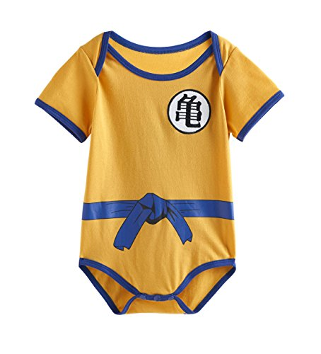 Rush Dance One Piece Super Hero Baby Muscle Superman Superboy Romper Onesie Cape (80 (6-12M), Baby Dragon - Turtle)