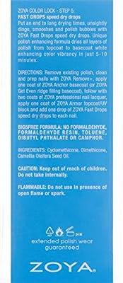 ZOYA Fast Drying Drops Top Nail Coat, 0.5 Fluid Ounce