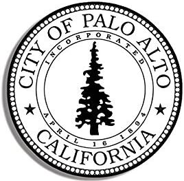Amazon.com: MAGNET B&W Palo Alto California City Seal Magnet ...