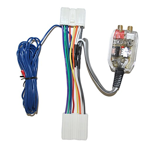 Factory Radio Add A Amp Amplifier Sub Interface Wire Harness Inline Converter Fitted for Dodge Eagle and Mitsubishi