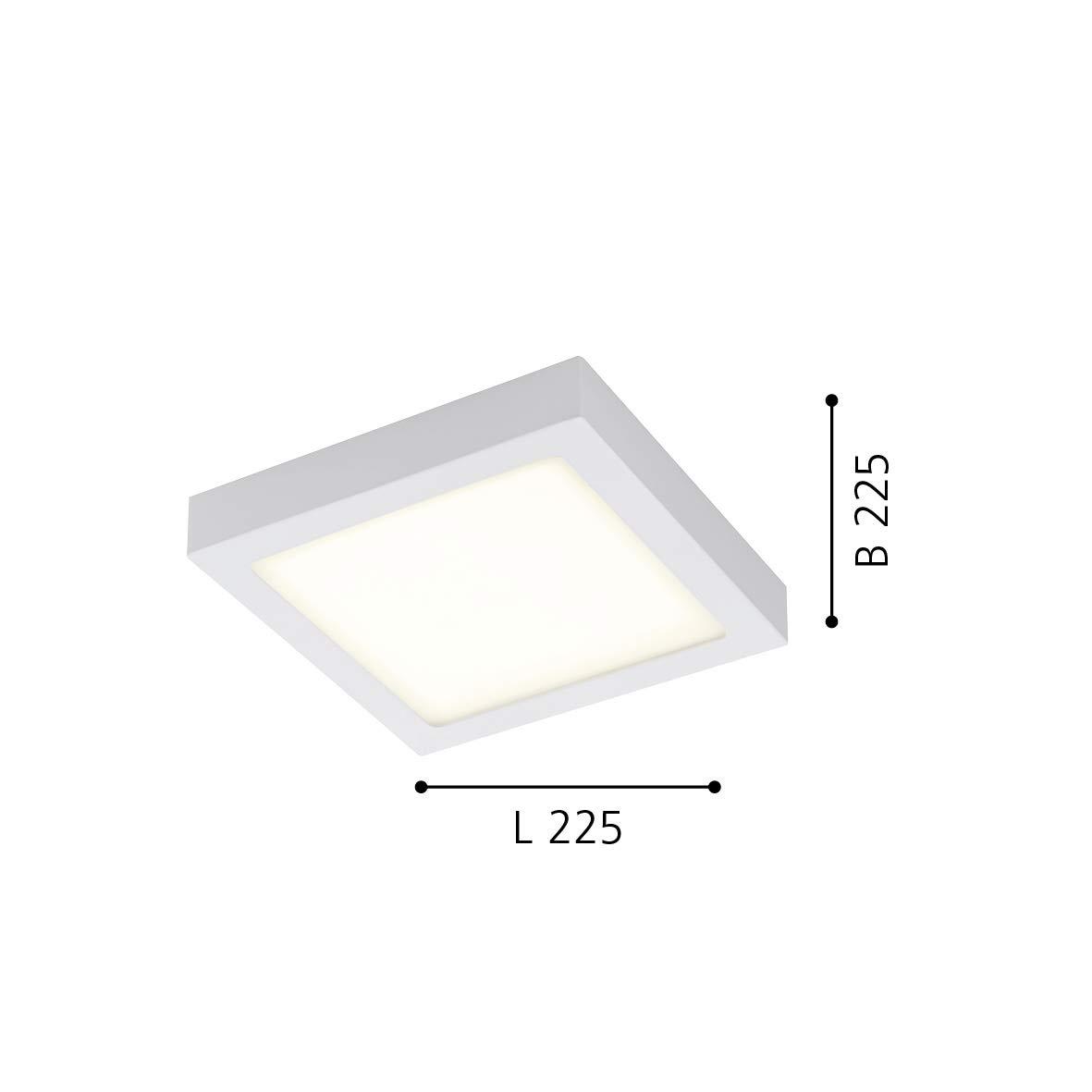 EGLO FUEVA-C lámpara empotrable, 15.6 W, Blanco, 22,5 x 22,5 cm