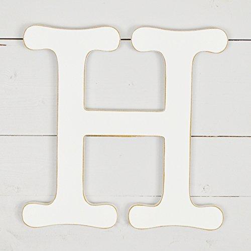UNFINISHEDWOODCO 11.5'' Typewriter Wall Decor Letter H- White