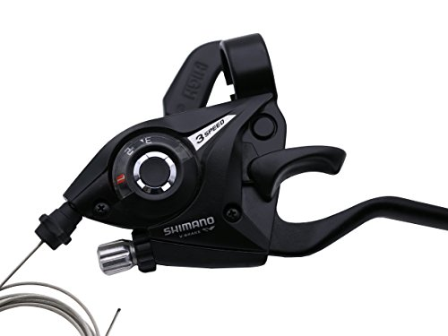 Shimano ST-EF51 3x7 Speed Shifter MTB Bike Brake Lever Combo with Inner Shift Cables (Black, 1 Pairs) by INKE (Image #2)