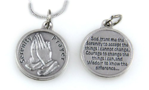 Amazon 6030035 serenity prayer pendant necklace one day at a 6030035 serenity prayer pendant necklace one day at a time aa na al anon mozeypictures Image collections