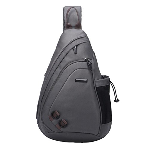 Pockets Bag Grey Leisure Wild Fashion Chest Messenger Backpack Students Men 1qg8B6AWn