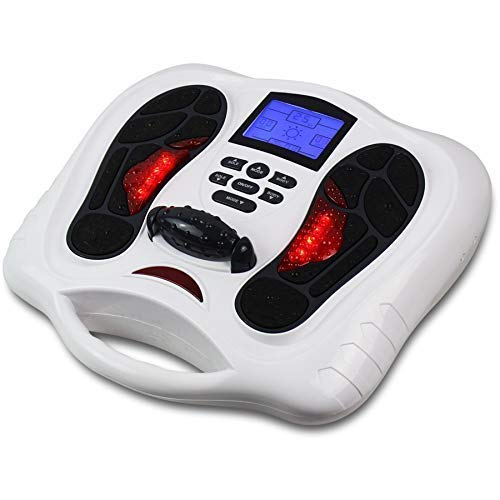Foot Massager Machine - Newest Feeling from EMS (Electrical Muscle Stimulator) Feet Medical Care, Electric Massage Therapy, Relax Treatment Device for Calf Leg Blood Circulation and Plantar Fasciitis