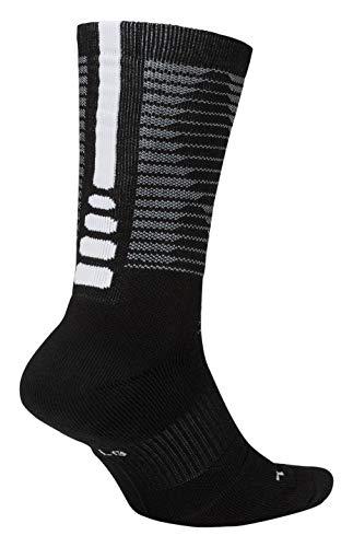 d01b3a21e Nike Elite Disrupter 1.5 Cushioned Basketball Crew Socks Black/White 8-10 (M)  10-13 (W)