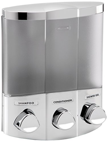 Aviva Euro Series Trio Three Chamber Soap and Shower Dispenser, Chrome