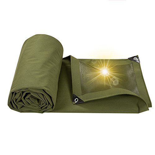 Pengbu MEIDUO Tarps Truck Tarpaulin, Thick Canvas Rain Shade Cloth/Car Tarpaulin 650g \㎡, (Thickness 0.8MM), 17 Size Optional for Outdoor (Size : ()