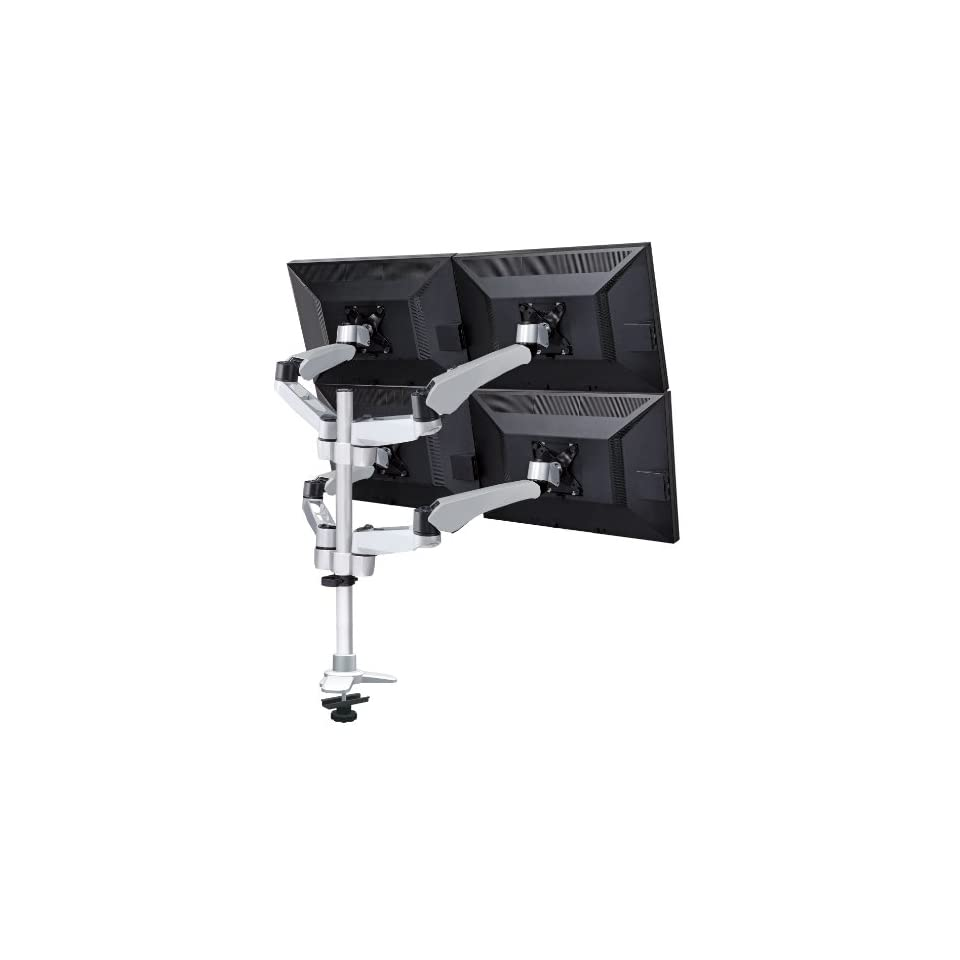 Mount It Four Monitor Desk Mount Spring Arm Quick Release/Connect