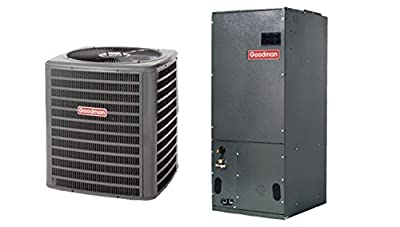 Goodman 3.5 Ton 14 SEER Heat Pump System with Multi-Position Air Handler SSZ140421/ARUF42C14