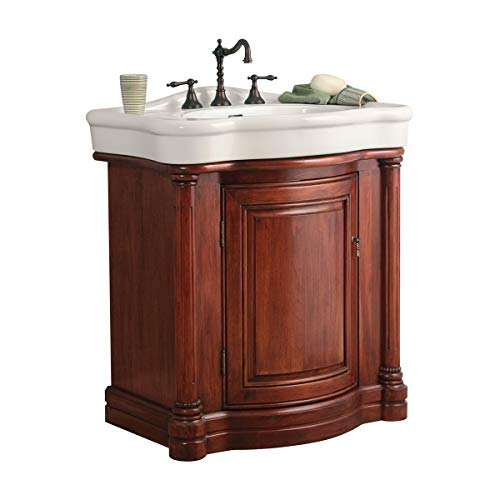 Foremost Cherry Vanity - Foremost WIA3021 Wingate Bathroom Vanity with China Top