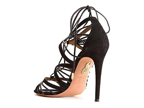 AQUAZZURA Leather Women's Black VEHHIGS0SUN000 Sandals AntrSqAOB