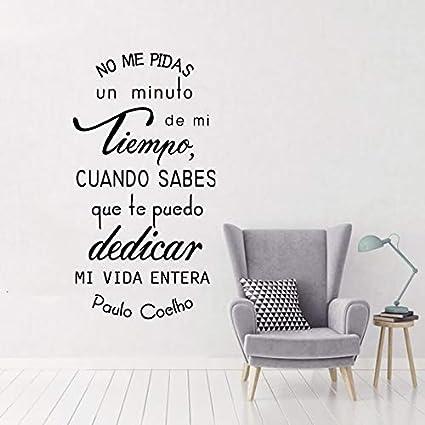 Ispirazione Spagnolo Citazioni Wall Art Murales Famoso Paulo