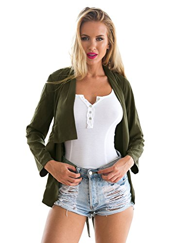 LookbookStore Womens Draped Blazer Jacket