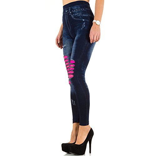 Spitzen Jeggings High Waist Leggings Für Damen , Pink Bei Ital-Design