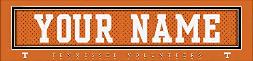 (Tennessee Volunteers College Jersey Nameplate Wall Print, Personalized Gift, Boy's Room Decor 6x22 Unframed Poster)