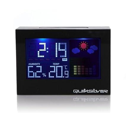 Quiksilver A016DR/BLK - Reloj digital unisex de cuarzo con correa negra (alarma, luz) - sumergible a 10 metros: Amazon.es: Relojes