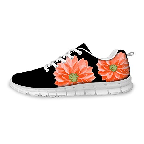 Sport CHAQLIN Outdoor Running Vintage Sneaker Women 4 Road Black Floral Shoes floral nqqcaF8xr